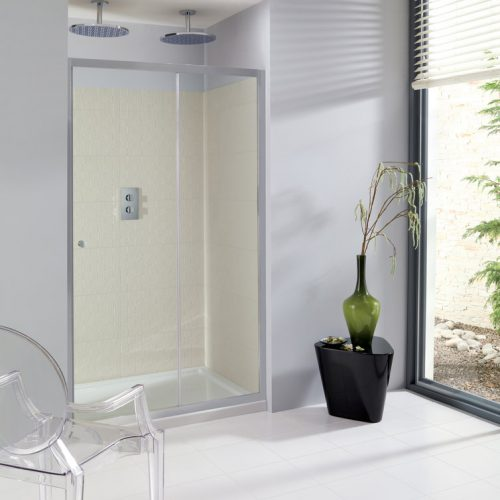 Crosswater Edge Single Slider Shower Door 1000mm ESLSC1000