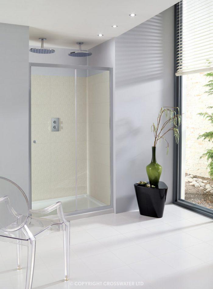 Simpsons Edge Single Slider Shower Door 1100mm ESLSC1100
