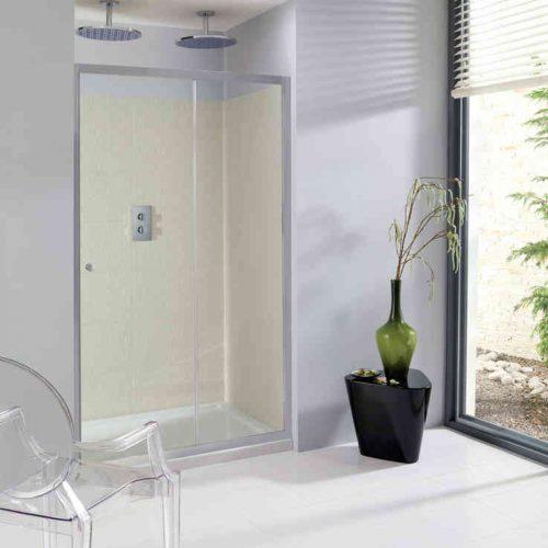 Crosswater Edge 1400mm Single Slider Shower Door ESLSC1400