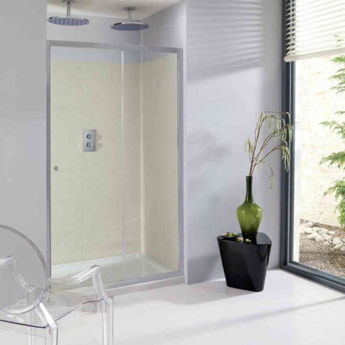 Crosswater Edge Single Slider Shower Door 1600mm ESLSC1600