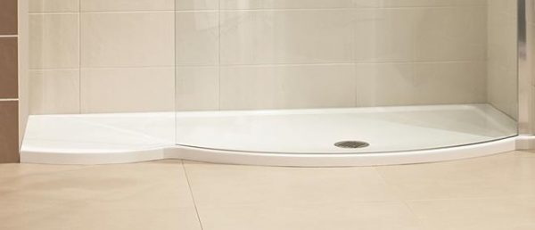 Roman Colossus 1700mm matt white shower tray and waste FC1R