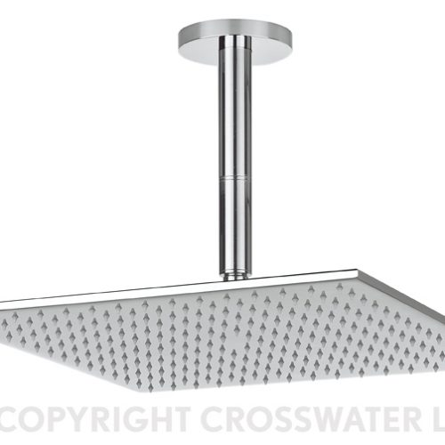 Crosswater Zion VS Showerhead 400 x 400 x 8 FH440C