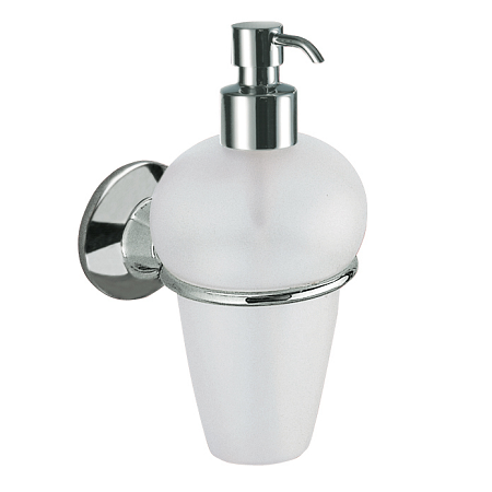 Gedy Ascot Soap Dispenser in Chrome/Frosted Glass 2781-13-0