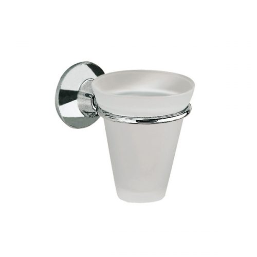Gedy Ascot Tumbler in Chrome Frosted/Glass 2710/06-13