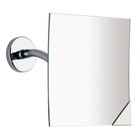 Gedy Magnifying 2x Square Wall Mirror in Chrome 2111-13-0