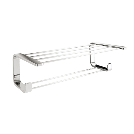 Gedy Outline Short Double Towel Rack with hooks 3235-13-0