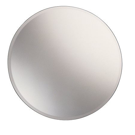 Gedy Round 65cm Bevelled Wall Mounted Bathroom Mirror 2530-0