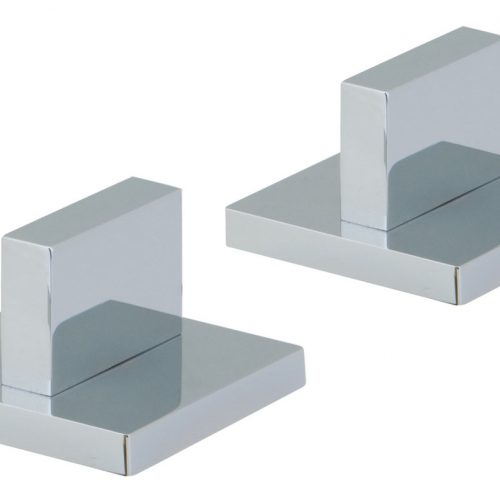 Vado Geo pair of modern panel valves deck mounted