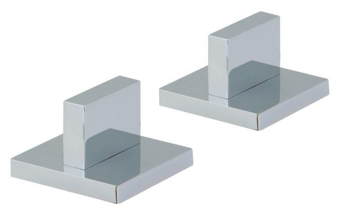 Vado Geo pair of modern panel valves deck mounted