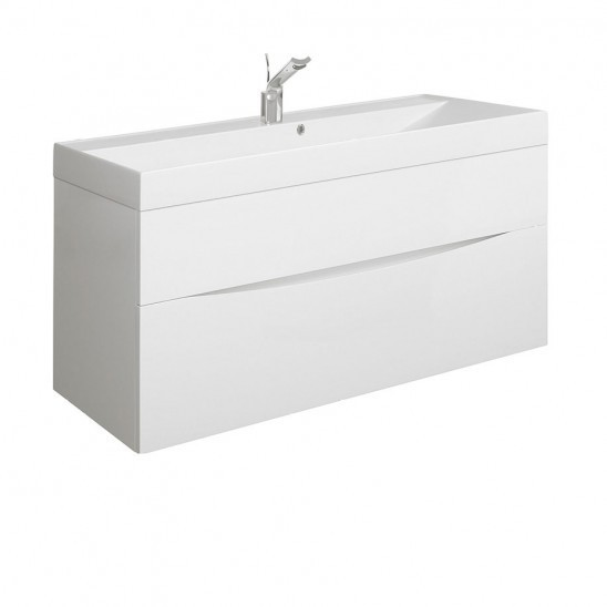 Bauhaus Glide II basin unit 1000 White Gloss GL1000DWG