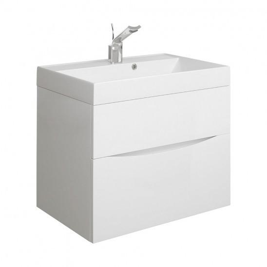Bauhaus Glide II basin unit 500 White Gloss GL5000DWG