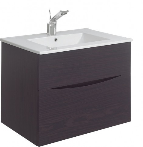 Crosswater Glide II basin unit 500 Wenge colour GL5000DWN
