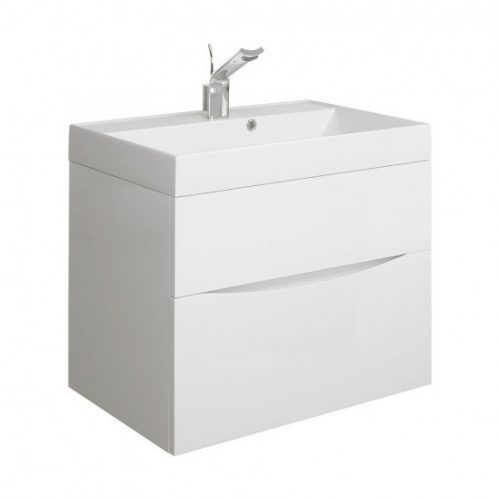 Crosswater Glide II basin unit 700 White Gloss GL7000DWG