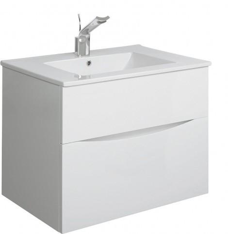 Bauhaus Glide II basin unit 700 White Gloss GL7000DWG