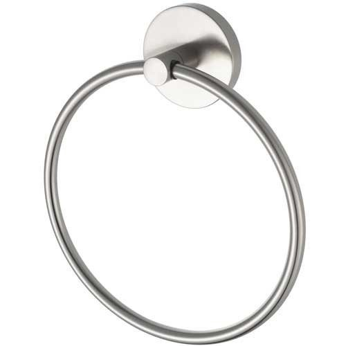 Aqualux Pro2500 Matt Steel Finish Towel Ring
