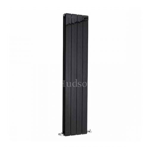 Hudson Reed High Gloss Black Rapture Radiator HLB57