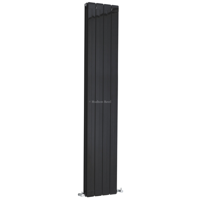 Hudson Reed High Gloss Black Rapture Radiator HLB58