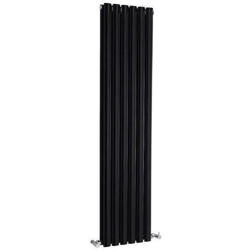 Hudson Reed Gloss Black Revive Double Panel Radiatr HLB76
