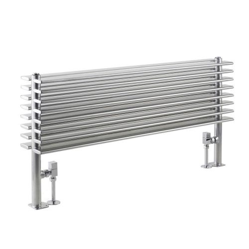 Hudson Reed High Gloss Silver Double Panel Radiator HLS81