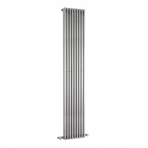Hudson Reed High Gloss Silver Single Panel Radiator HLS90