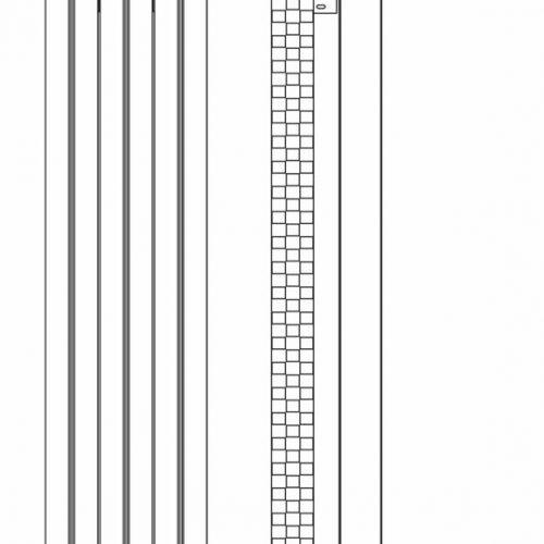 Hudson Reed White Templar Radiator 1800 X 385 HTE002