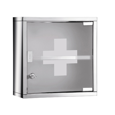 Gedy Bathroom Medicine Cabinet Lockable Square JO35