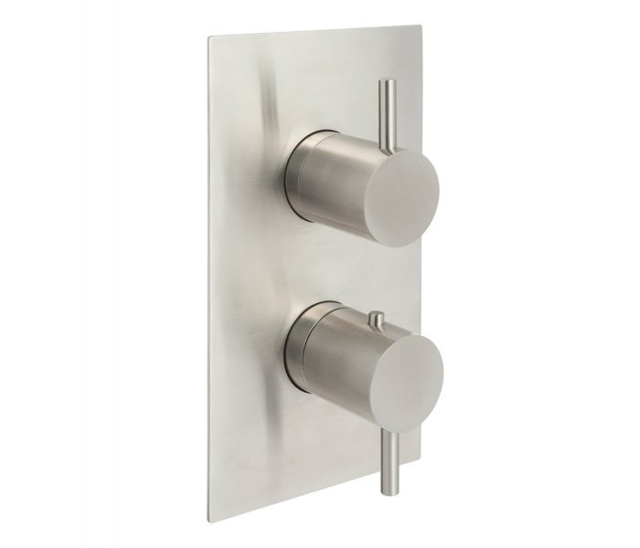 Just Taps Inox Stainless Steel 2 Outlet Shower Valve