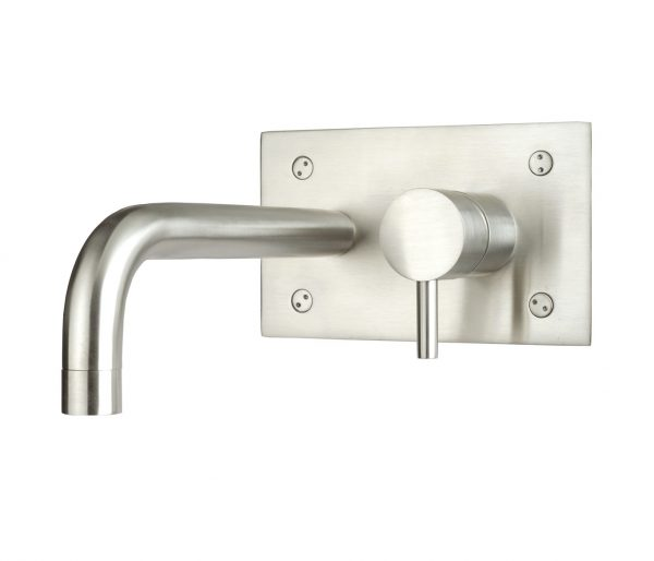 Just Taps Inox Stainless Steel Wall Mounted Basin Mixer Tap