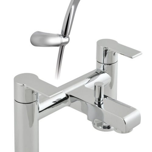 Vado Ion chrome bath shower mixer & kit ION-130+K-C/P