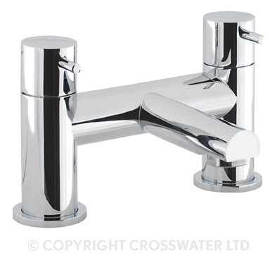 Crosswater Kai Lever Bath Filler Deck Mounted KL322DC