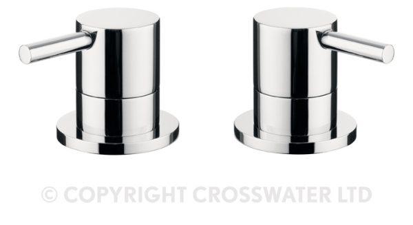 Crosswater Kai Lever Panel Valves Pair Deck Mtd KL350DC