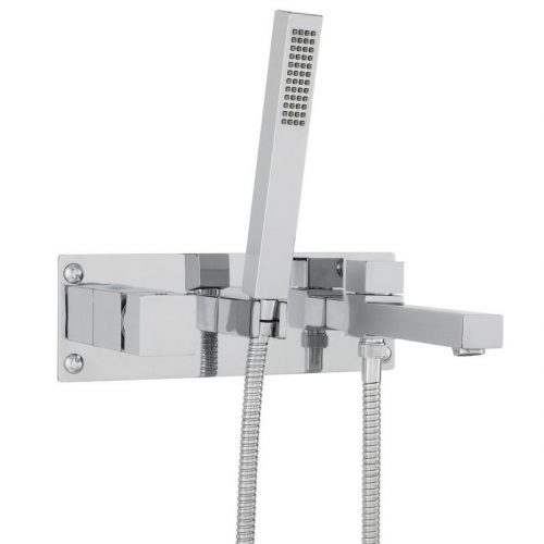 Hudson Reed Square Wall Mounted Bath Shower Mixer KUB350