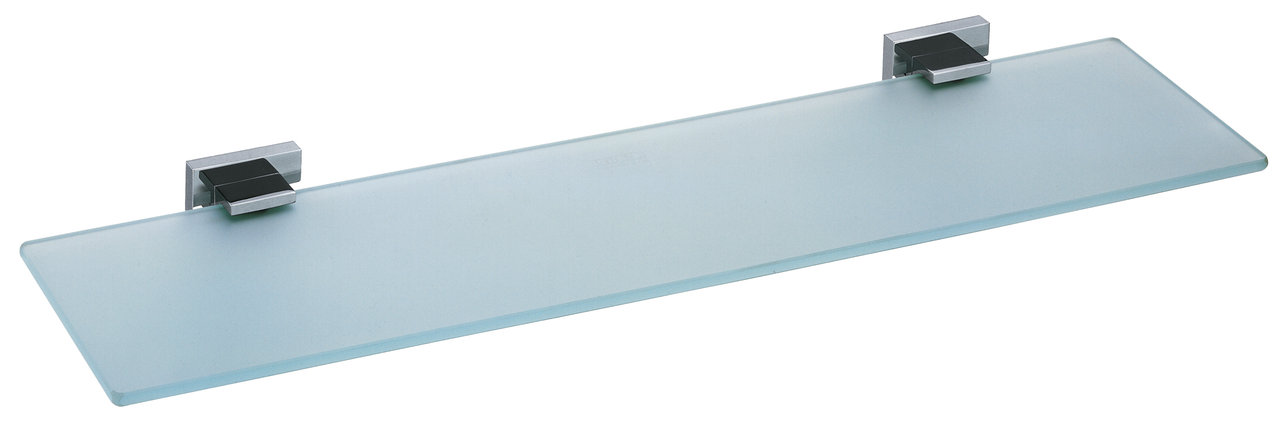 Vado Level frosted glass shelf 530mm wall mounted LEV-185-C/P