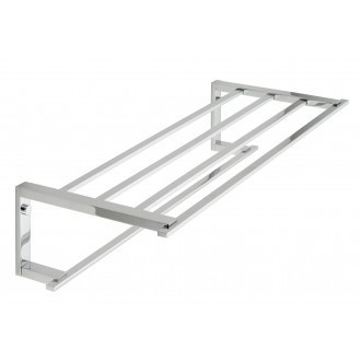 "Vado Level towel shelf with towel rail 550mm (22"") LEV-185B-C/P"