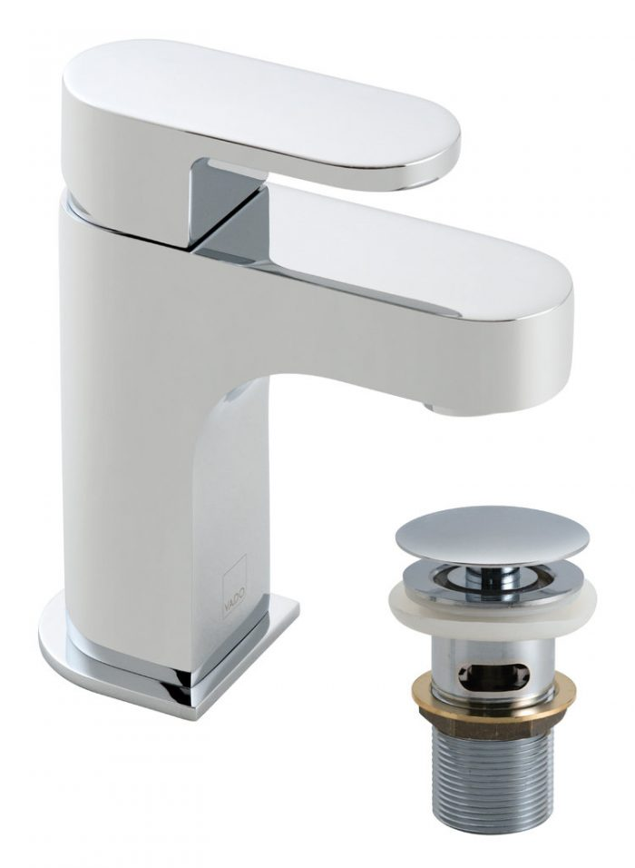 Vado life mini mono basin mixer and waste LIF-100M/CC-C/P