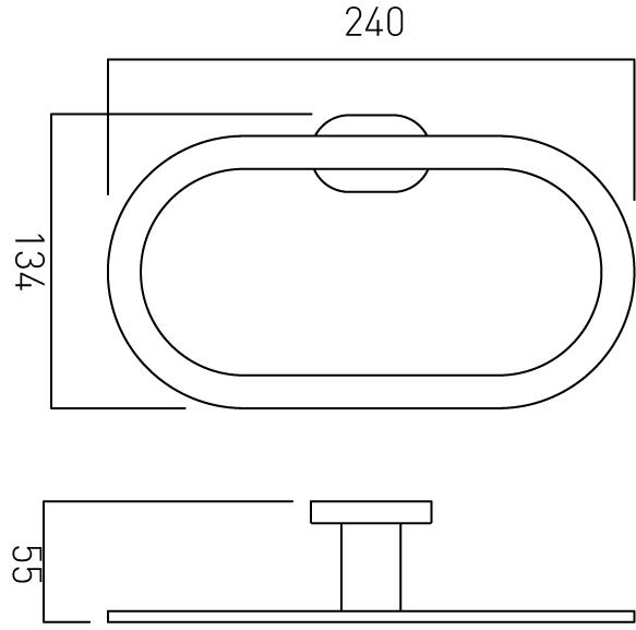 Vado Life modern bathroom towel ring LIF-181-C/P