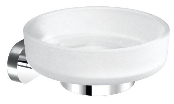 Vado Life glass soap dish and holder wall mtd LIF-182-C/P