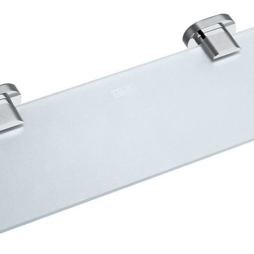 Vado Life frosted glass shelf 530mm wall mtd LIF-185-C/P