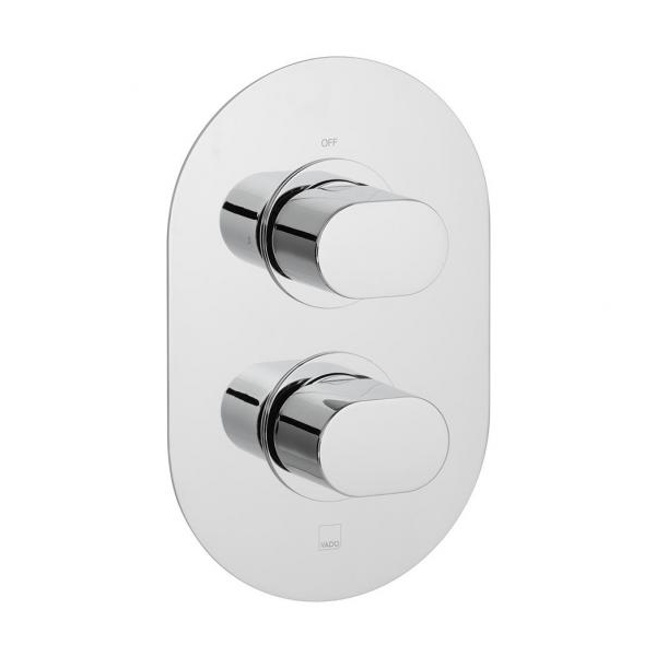Vado Life 1 Outlet 2 Handle Concealed Thermo Shower Valve-0