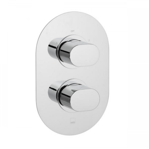 Vado Life 2 Outlet 2 Handle Thermostatic Valve With Diverter-0