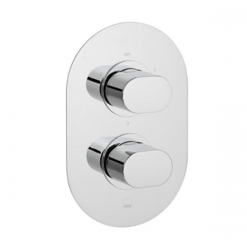 Vado Life 3 outlet 2 Handle Thermostatic Valve With Diverter-0