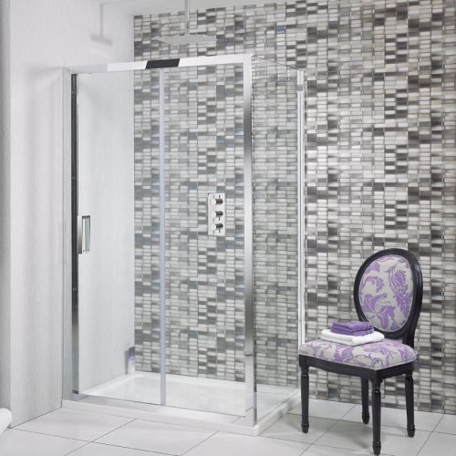Simpsons Elite Single Slider Shower Door 1400mm LSLSC1400