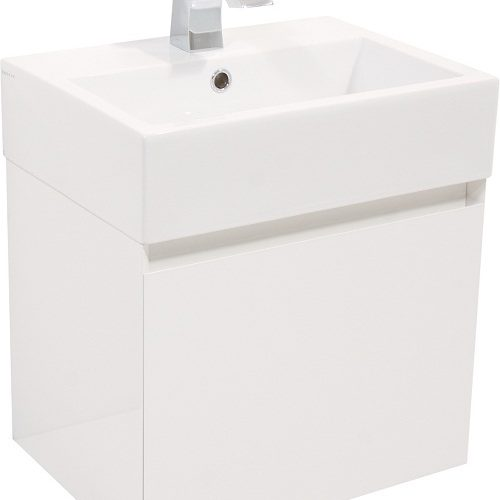 Saneux MATTEO 1 drawer gloss white unit ONLY M0101.1
