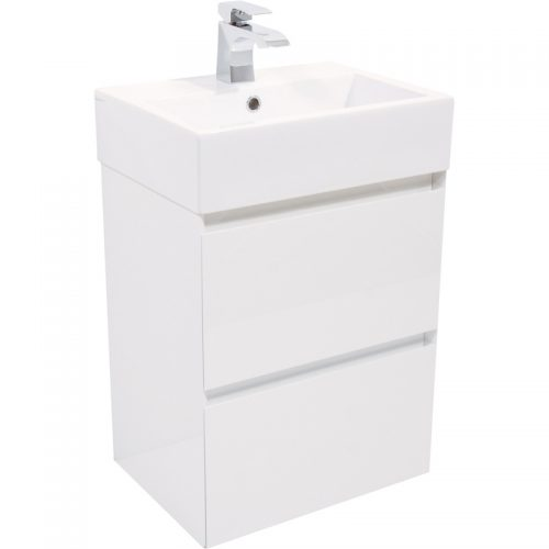 Saneux MATTEO 2 drawer gloss white Unit ONLY M0101.2