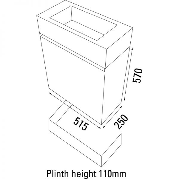 Saneux MATTEO Gloss White 1 Door Unit ONLY M0601.1