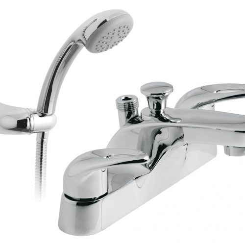 Vado 2 hole bath showr mixer with showr kit MAG-130+K-C/P