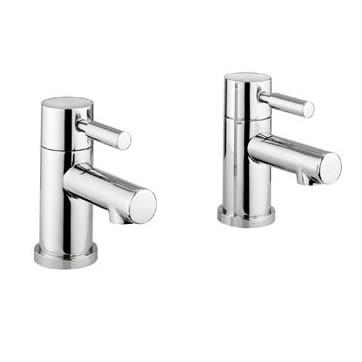 MBAQ340D Adora Aqua Pair Of Modern Look Bath Pillar Taps