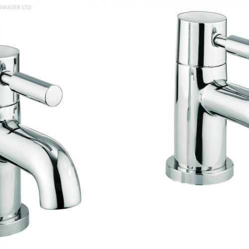 MBFU140N Adora Fusion Pair of Lever Basin Pillar Taps