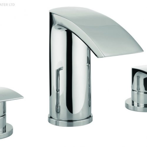 Adora Flow 3 Hole Chrome Bath Set MBFW330D