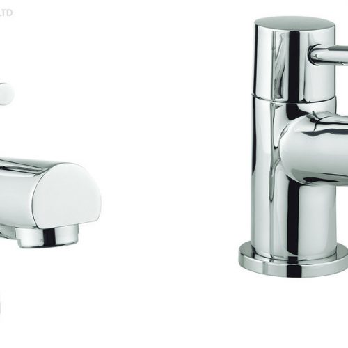 Adora Globe2 Pair of Low Pressure Basin Pillar Taps MBGO140N+